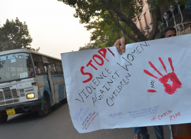 A protest march for stop violence against women & girls in Kolkata, India.