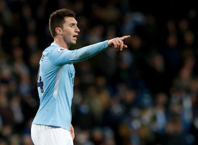 Aymeric Laporte made his debut for Man City on Wednesday night.
