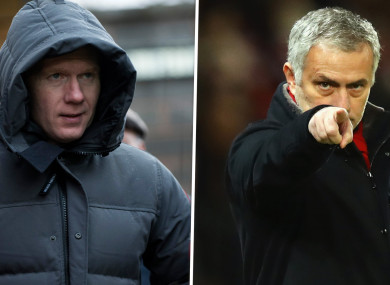 Jose Mourinho has hit back at Paul Scholes after the latter's criticism of United.