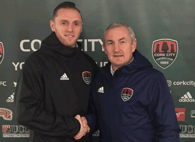 Cherrie with manager John Caulfield.