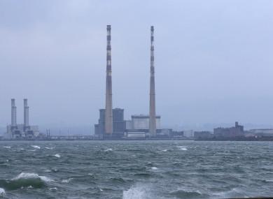Rough seas near Clontarf.
