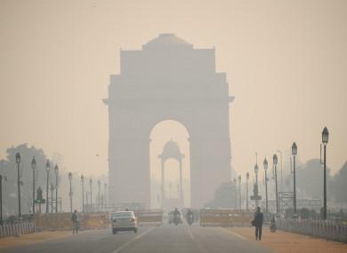 Delhi, India covered in heavy smog in November 2017
