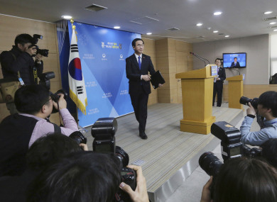 South Korean Unification Minster Cho Myoung-gyon proposed high-level talks at a press conference today.
