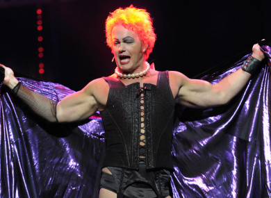 Craig McLachlan performs as Frank N Furter during a media call for The Rocky Horror Show in 2014.