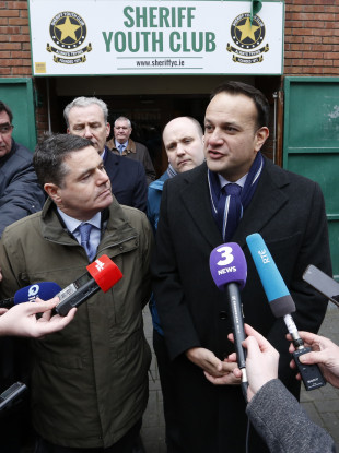 Taoiseach Leo Varadkar and the Minister for Finance and Public Expenditure and Reform, Paschal Donohoe visiting Dublin's North East Inner City today.