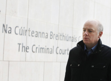 Former chief executive of Anglo Irish Bank David Drumm arriving at the Dublin Circuit Criminal Court this week.