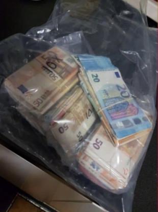 A file photo of seized cash.