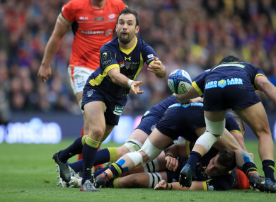 Parra in action for Clermont during last season's European Champions Cup final.