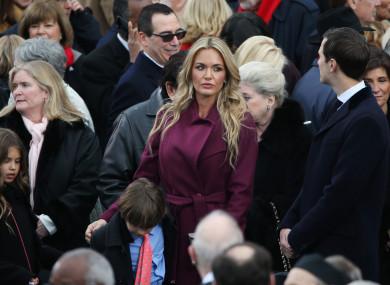 Vanessa Trump (in purple jacket)