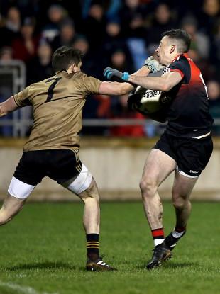 Evan Regan in action on Saturday night.