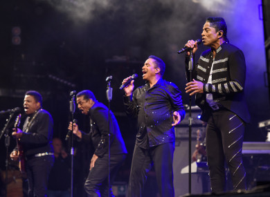 The Jacksons performing during the Glastonbury Festival last year.