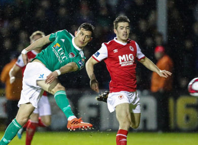 Graham Cummins pictured playing against St Pat's last week.