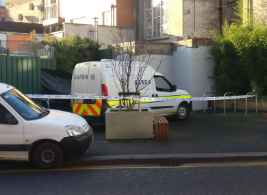 The scene of the incident at Ryders Row, Dublin 1
