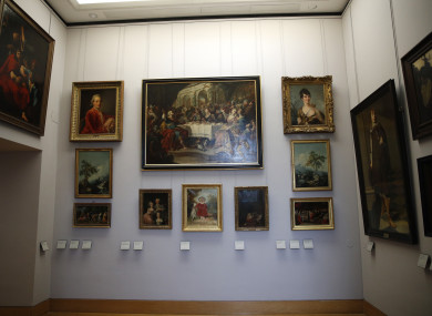 FILE: Paintings looted by Nazis during World War II, are on display at the Louvre museum, in Paris. In a move aimed at returning work of art looted by Nazis during World War II, the Louvre museum has opened two showrooms with 31 paintings on display which can be claimed by their legitimate owners.