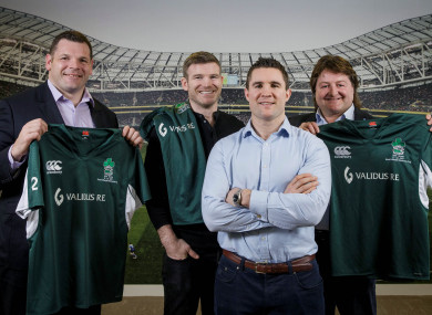 Mike Ross, Gordon D'Arcy, Simon Keogh and Shane Byrne launch this year's fixture.
