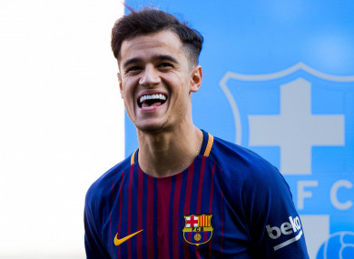 Coutinho joined Barcelona for €160 million in January.