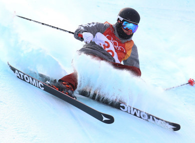 USA's Gus Kenworthy during run 3 in the Men's Ski Slopestyle Skiing at the Pheonix Snow Park during day nine of the PyeongChang 2018 Winter Olympic Games.
