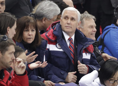 Mike Pence attended the beginning of the Winter Olympics