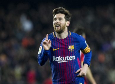 Messi scored a brace for Barcelona on Saturday.