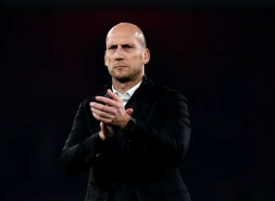 Jaap Stam was unable to replicate the success of his first season at the club.