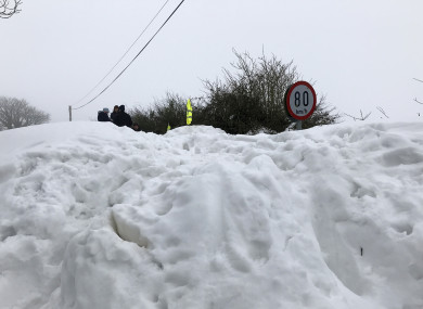 Snow scenes last week in Cromwellstown Road, Kilteet, on the Dublin/Wicklow/ Kildare border.