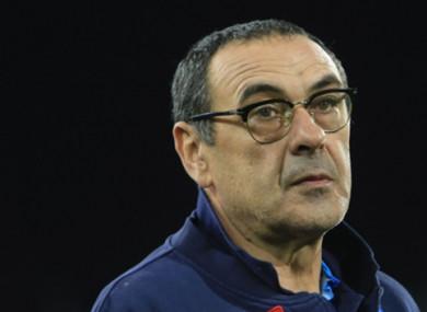 Napoli manager Maurizio Sarri (file pic).