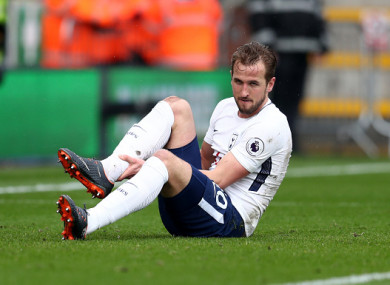 Harry Kane could be out of action for six weeks.