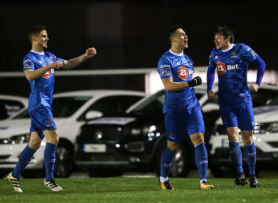 Duffus (centre) celebrates with his Waterford team-mates.