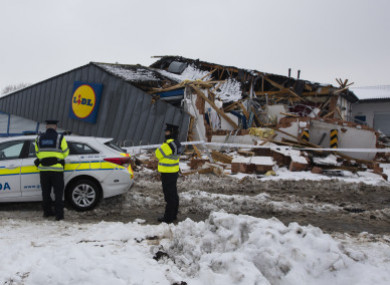 Gardaí at the scene of the Lidl store in Fortunestown Lane in Tallaght