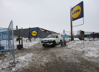 The supermarket on Fortunestown Lane pictured on Saturday