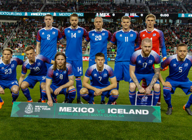 The Iceland team line out for a photo (file pic).