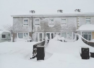 Snowbound houses in Tallaght