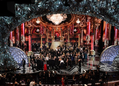A view of the stage at the end of this year's Academy Awards in Hollywood.