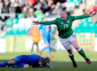 Amber Barrett and Leanne Kiernan grabbed the goals.