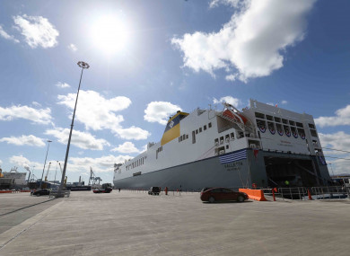 World's largest roll-on/roll-off vessel christened at Dublin