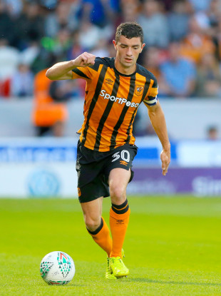 Lenihan captaining Hull City against Doncaster Rovers last August in the Carabao Cup.