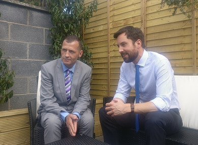 Philip (left) with Minister Eoghan Murphy (right) today in Dublin.