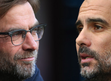 Klopp and Guardiola meet on Wednesday.