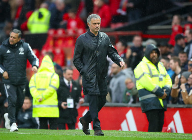 Jose Mourinho was not happy after seeing his Man United side lose to West Brom.