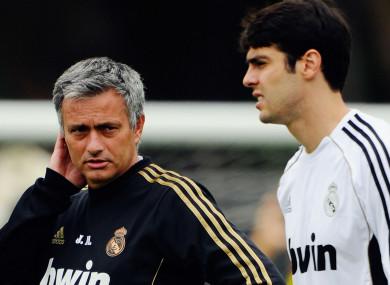 Jose Mourinho with Kaka at Real Madrid.