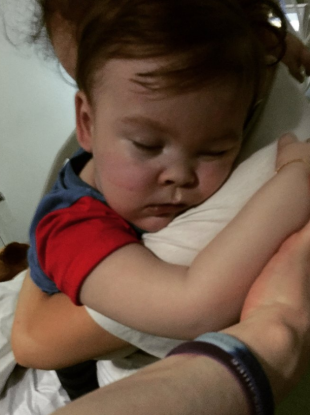An image uploaded to Facebook this morning by Alfie Evans' mother Kate James.