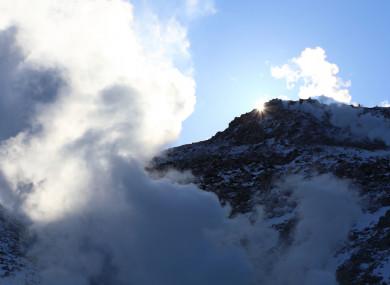 Mount Io in Hokkaido, Japan