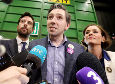 From L to R: Minister for Housing Eoghan Murphy TD, Minister for Health Simon Harris TD and Kate O'Connell TD in the RDS.