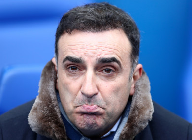Carvalhal's time with Swansea came to an end today.