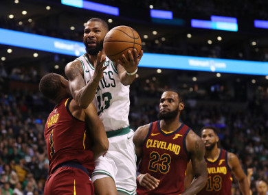 8908ece13 LeBron humbled as Celtics secure lead against Cavaliers in NBA playoff  series opener