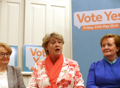 Pictured (LtoR) former Minister Gemma Hussey, Former Minister Nora Owen and former Minister Madeleine Taylor-Quinn discuss the 8th Amendment in Buswells Hotel.