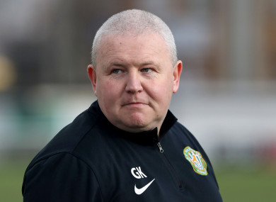 Graham Kelly was appointed as caretaker boss of Bray last month.