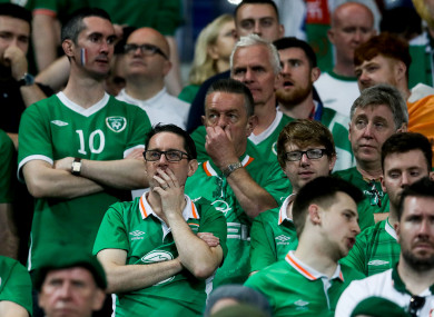 Ireland fans during the game.