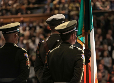 Defence Forces members at yesterday's citizenship ceremony.