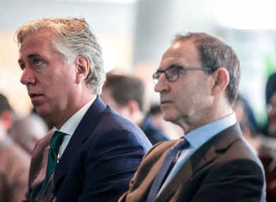 FAI chief executive John Delaney with Republic of Ireland senior team manager Martin O'Neill.